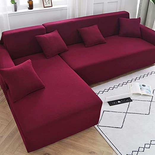 Sofa Cover Thicken Comfy Couch Slipcover All Wrap Solid Colour Settee Protector