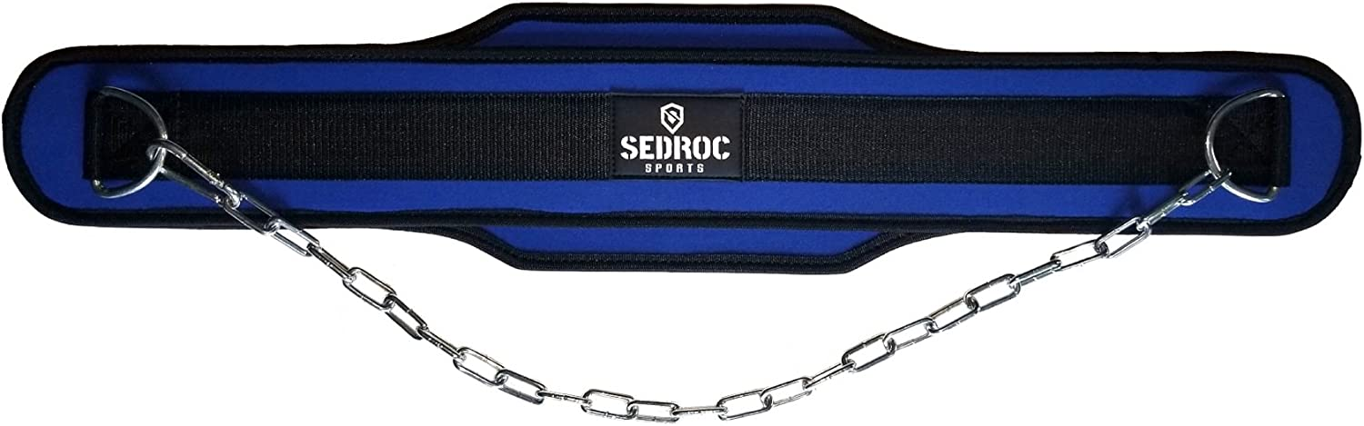 Sedroc Weighted Dip Belt with Chain for Weight Lifting Powerlifting Gym Training
