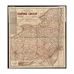 1909 Map Pennsylvania| Middle Atlantic | New Jersey A survey of the empire group : with a complete d