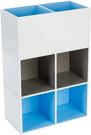 Meuble étagère Cube pour chambre d\'enfants - 6 compartiments ...
