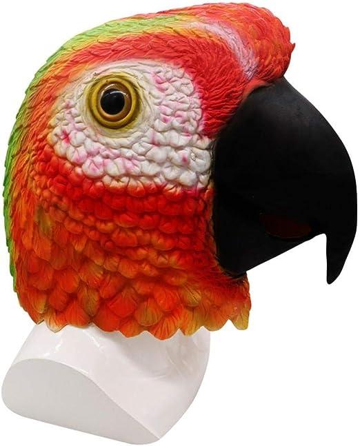 YakeHome Red Parrot Mask - Fiesta de Disfraces de Halloween ...