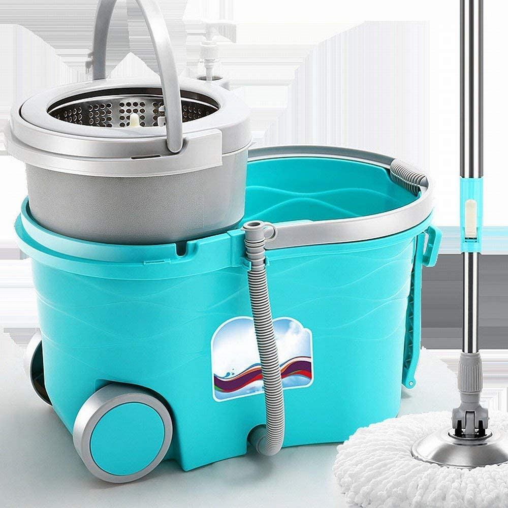 MNC Pot de Ménage Vadrouille en Coton bleu