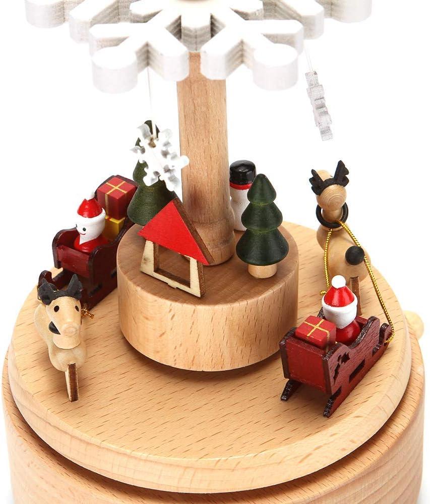 Carillon in Legno con Decorazione Natalizia a Forma di Fiocco di Neve LONEEDY per Ragazzi e Ragazze Neve