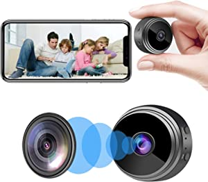 Camera Hidden Home Security Camera WiFi Mini Spy Camera Video Recorder with Audio, Nanny Cam with Motion Detection Night Vision Remote Control on App