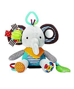 Rony Rass Jouets pour bébé pour Filles et garçons, Fun, Doux en Peluche bébé Hochets et poussettes pour Enfant Toys–Sexe Neutre pour Nouveau-né–1pcs (éléphants)