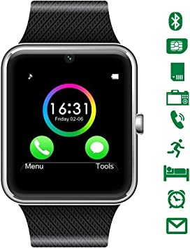 LATEC Smartwatch Bluetooth con cámara soporta Tarjeta SIM TF ...