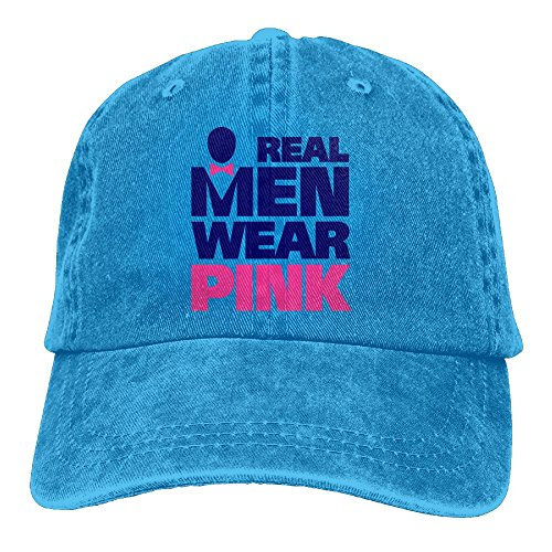 Hainingshihongyu Real Men Wear Pink For Breast Cancer Baseball Caps Adult Sport Cowboy Trucker Hats Adjustable - Mall City Park Stores