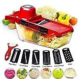 BYETOO Mandoline Vegetable Slicer Cutter Food Slicer - Red