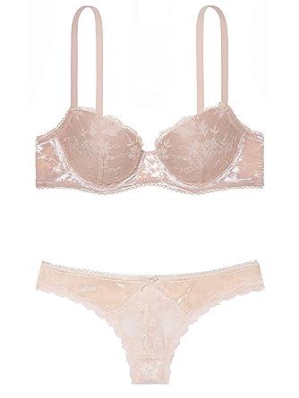 e30e5bc5f6efdd Victoria s Secret Dream Angels Pink Ivory Retro Romance Lace with ...