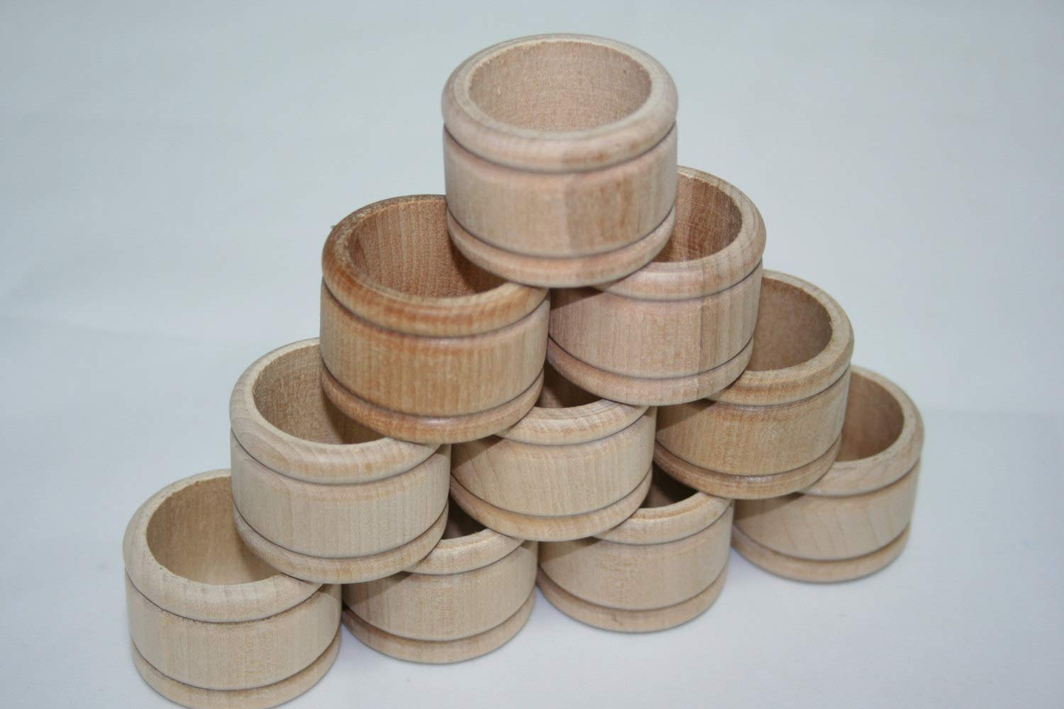 Colonial Style Napkin Maple Wood 50pcs Unfinished Wooden Napkin Ring Holder Table Setting Decor DIY Craft Supplies by Hobknobin DIY Wooden Napkin Rings Choose Your Qty n Save