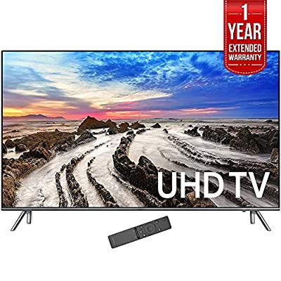 "Samsung 64.5"" 4K Ultra HD Smart LED TV 2017 Model (UN65MU8000FXZA) with 1 Year Extended Warranty"