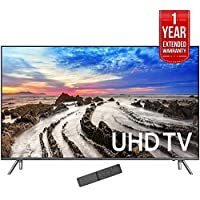 Samsung 64.5 4K Ultra HD Smart LED TV 2017 Model (UN65MU8000FXZA) with 1 Year Extended Warranty