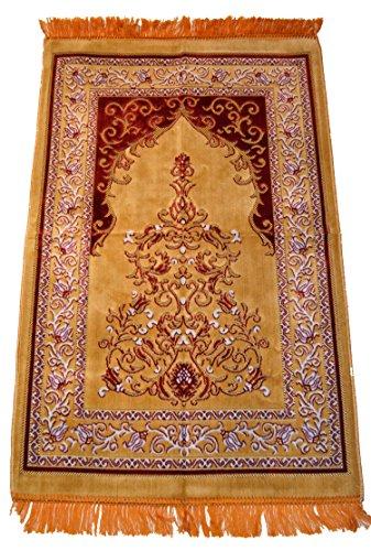 Prayer Rug Carpet Islamic Muslim Salah Meditation Mat Turkish Exquisite High Quality Beige by Prayer Rug