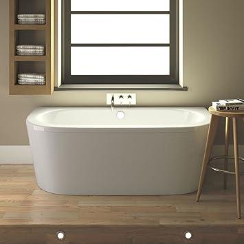 bain baignoire arrondi 1700 x 800 x 390mm en acrylique blanc 5mm avec tablier pieds - Pose Baignoire Acrylique Avec Tablier