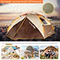ZOMAKE Waterproof Camping tent 2 3 4 Person - Protable Dome Quick Up Tent, Automatic Instant Tent (Brown)