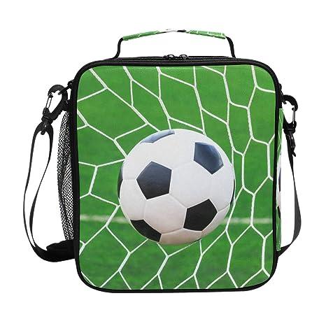 QMIN Bolsa de almuerzo para balón de fútbol, fútbol, con ...