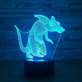 Ydwd3D Lampe De Table Visuelle Mignon Animal Loup Renard Led