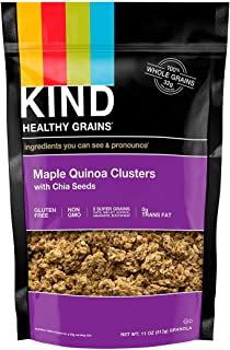 product image for KIND Healthy Grains Clusters, Maple Quinoa with Chia Seeds, Gluten Free, 11 Ounce Bag