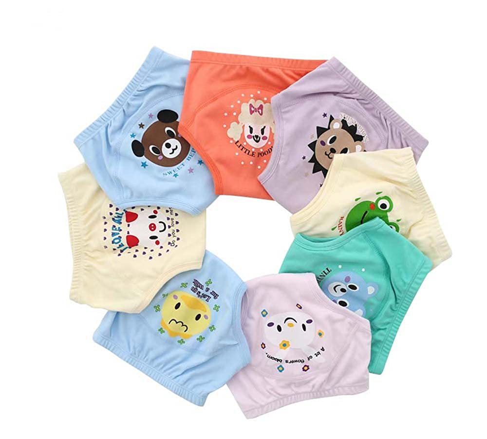 JinYunHuaGong 4PCS Toilet Potty Training for Baby Reusable Four Layers Waterproof Toddler Nappy Panties Boy Girl Short Briefs Mix Colors