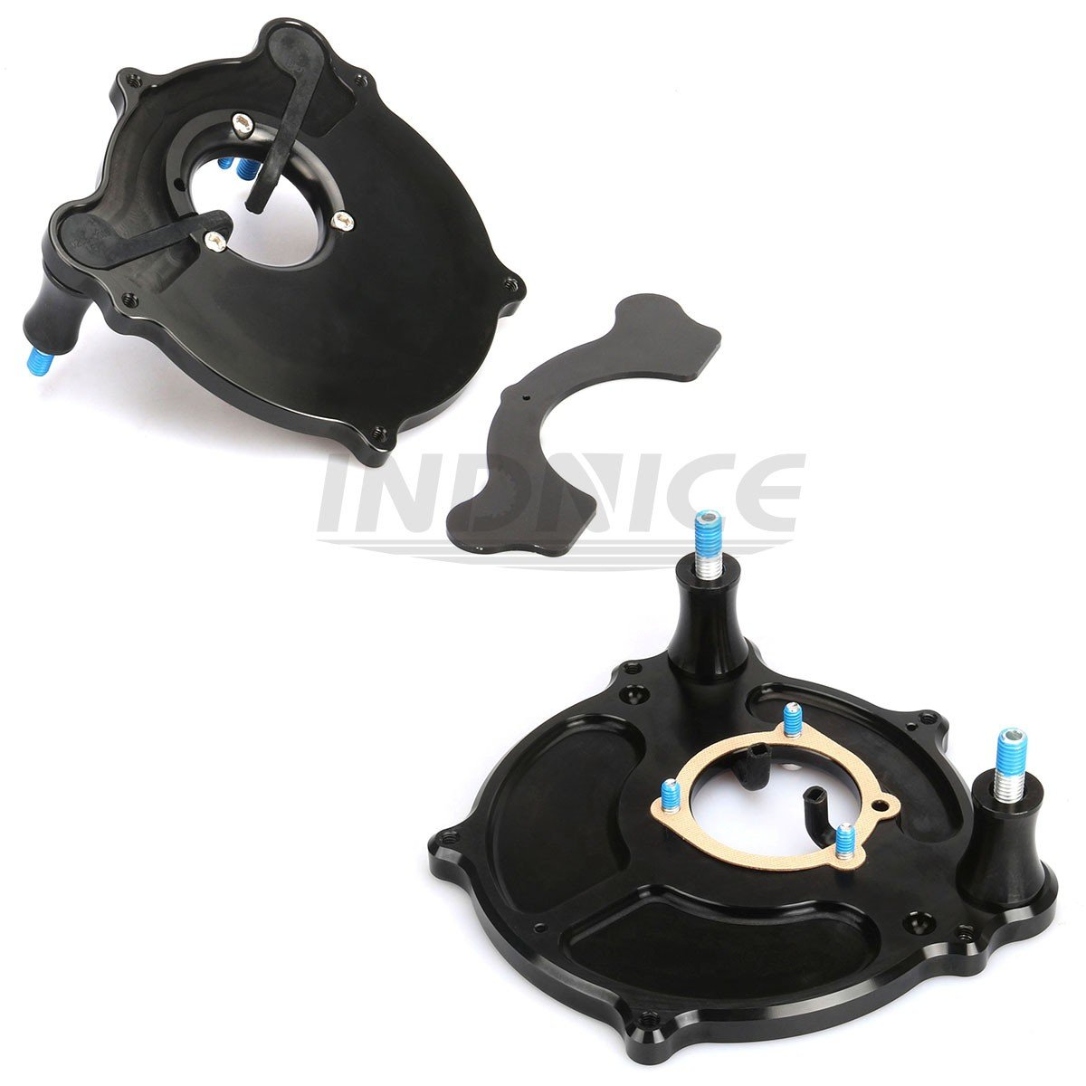 CNC black Nostalgia Venturi Air intake system for harley Wide Glide FXDWG air filter FLHR air intakes for harley touring 00-07