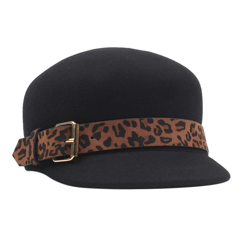 Winter Wool Hats Women Pure Wool Flat Hat Plaid Bow Newsboy Caps Beret Military Cap Equestrian,Black,56-58cm