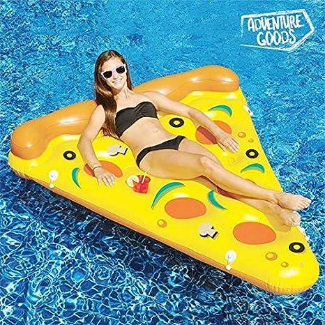 Eurowebb Colchón Flotador Hinchable Pizza - Flotador Part de Pizza para la Mar y la Piscina Sonora: Amazon.es: Electrónica