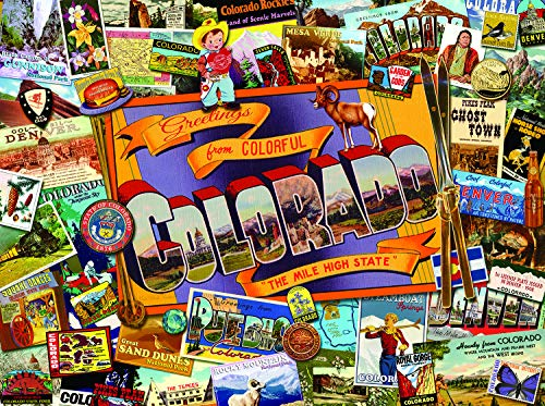 Sunsout 2019 Mile High Colorado by Artist Kate Ward Thacker 1000 Piece Maps/Geography Jigsaw Puzzle