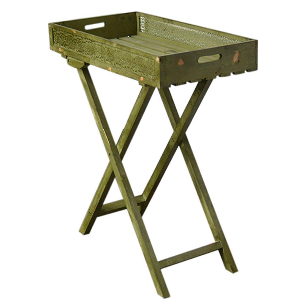 Massivholz machen das alte X-förmige Behälter-Blumen-Zahnstange-Landung-Speicher-Zahnstange-Balkon-Blumen-Geschäfts-Platten-Blumen-Regal-Regale hölzern ( farbe : Grün )