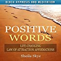 Positive Words: Life Changing Law of Attraction Affirmations via Beach Hypnosis and Meditation Speech by Sheila Skye Narrated by Nora Grace
