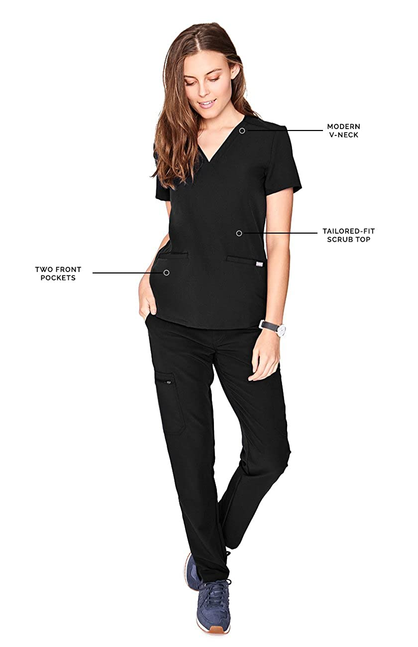 f01ad4439d6 Amazon.com: FIGS Casma Three-Pocket Scrub Top for Women - Tailored Fit,  Super Soft Stretch, Anti-Wrinkle Medical Scrub Top: Clothing