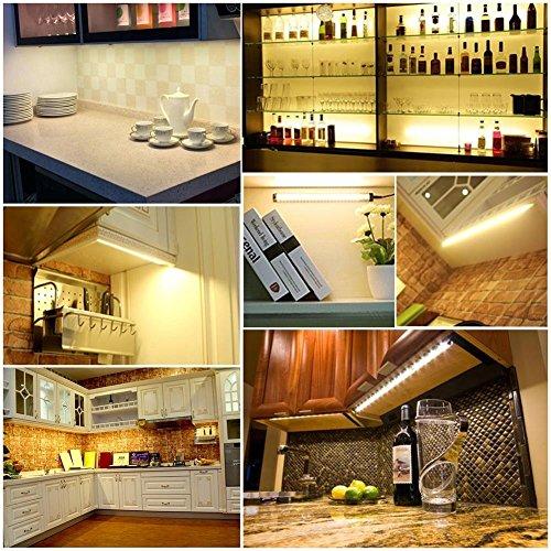 LED Lights Kitchen Dimmable Under Cabinet Lighting Set, 3 Pack, 12 Volt,  900 Lumens, ...