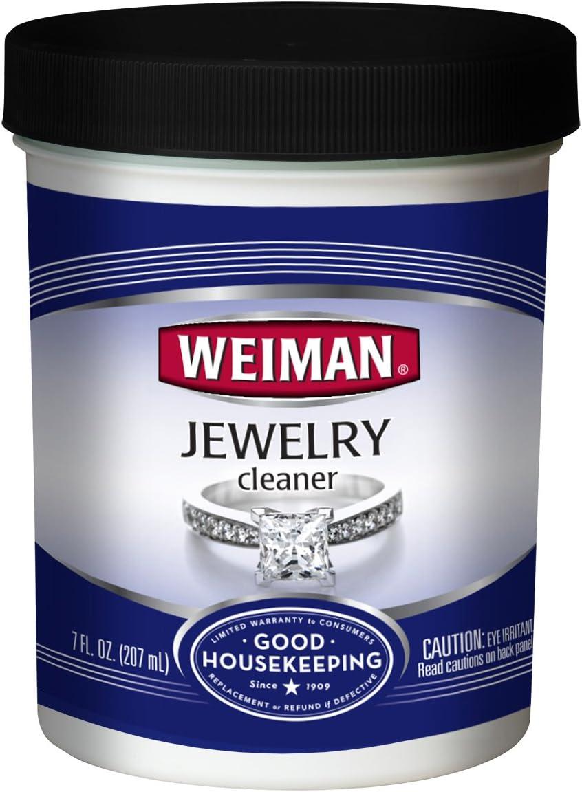 Weiman Jewelry Cleaner Liquid – Restores Shine and Brilliance to Gold, Diamond, Platinum Jewelry & Precious Stones – 7 FL. oz.
