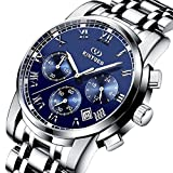 Watch,Watches For Men ,Classic Luxury Business Casual Watches Waterproof Multifunctions Quartz Wrist Stainless Steel Watch