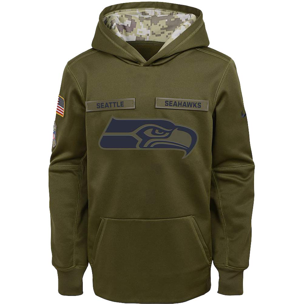 more photos 9790c 289fd Amazon.com : Nike Boys Seattle Seahawks Therma-Fit Salute to ...