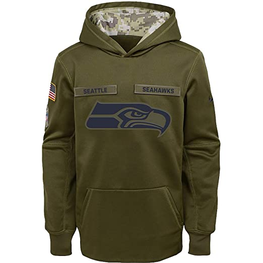 more photos d4a5b a512e Amazon.com : Nike Boys Seattle Seahawks Therma-Fit Salute to ...