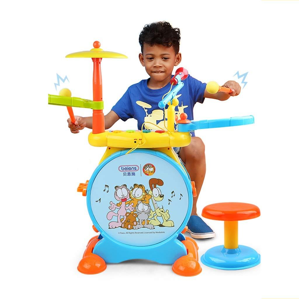 tienda de descuento LIPENG-TOY Baby Jazz Drums Drums Niños Principiantes Golpear Instrumentos Instrumentos Instrumentos Musicales con Juguetes de micrófono 3-6 años (Color  entrega de rayos