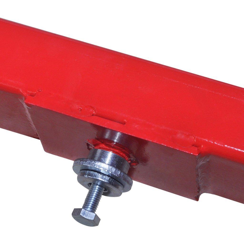 Festnight Pont /Él/évateur Support de Moteur 2 tonnes Rouge 72,5 x 12 x 19cm L x P x H