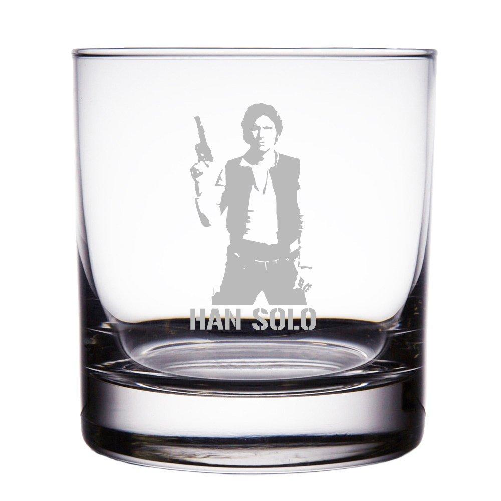 Han Solo Star Wars Engraved 10 oz Rock Glass Mic & Co MIC-RCK10OZ-ASTAR143N
