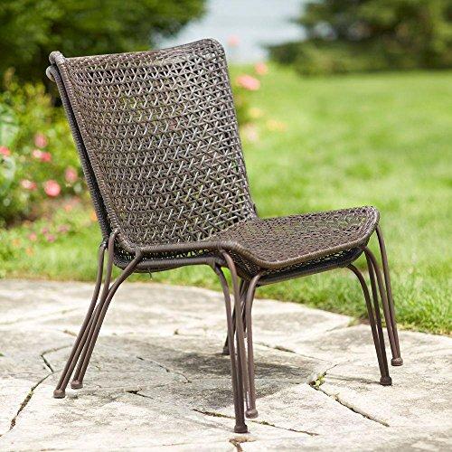 Hampton Bay Arthur All-Weather Wicker Patio Stack Chair (2-Pack) (Hampton Bay Wicker Chair)