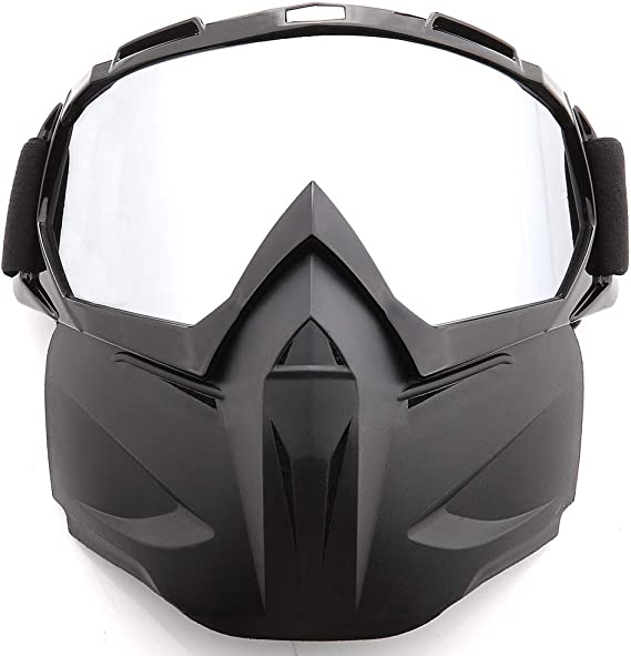 Goggles Glasses Face Mask Motorcycle Riding Dirt Bike Protector Skull Mask