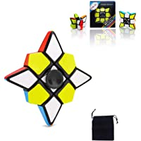 Speed Cube Set 1x3x3 Toys Skew Speed Cube Magic Smooth Cube Puzzle Toy for Kids Relax Finger Spinner Stress Relief Toys for Adults Kids