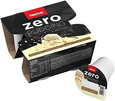 Prozis Zero Pudding, Sabor a Vainilla, Rico en Proteínas y Bajo Contenido de Carbohidratos y Azúcares - 4 x 125g
