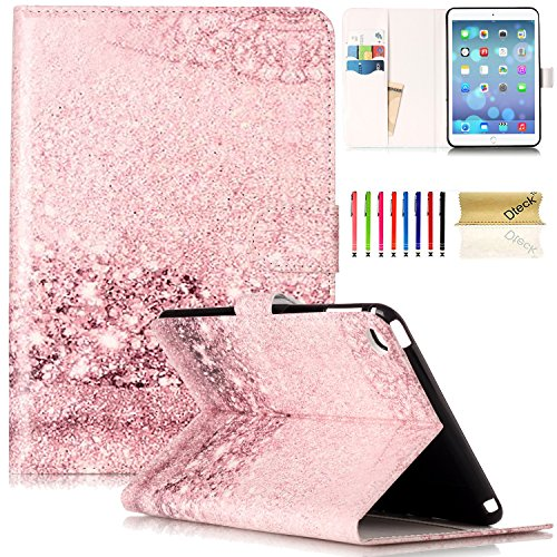 iPad Mini 4 Case, Dteck(TM) Slim Fit Synthetic Leather Finish [Art Painting] Flip Stand Case with Cards Slots Protective Cover for Apple iPad Mini 4 (7.9inch), Glitter Bubble