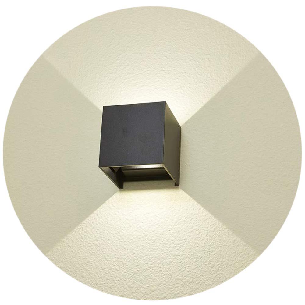 K-Bright LED Wandlampe Wei/ß Aluminiumgeh/äuse mit einstellbar Abstrahlwinkel Design NEU 12W Kalt wei/ß Gips Lampe Leuchte IP 65