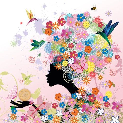 Die Blumen Lady Edle Geldgeschenk Karte Mit 24 Carat Gold Cent Als