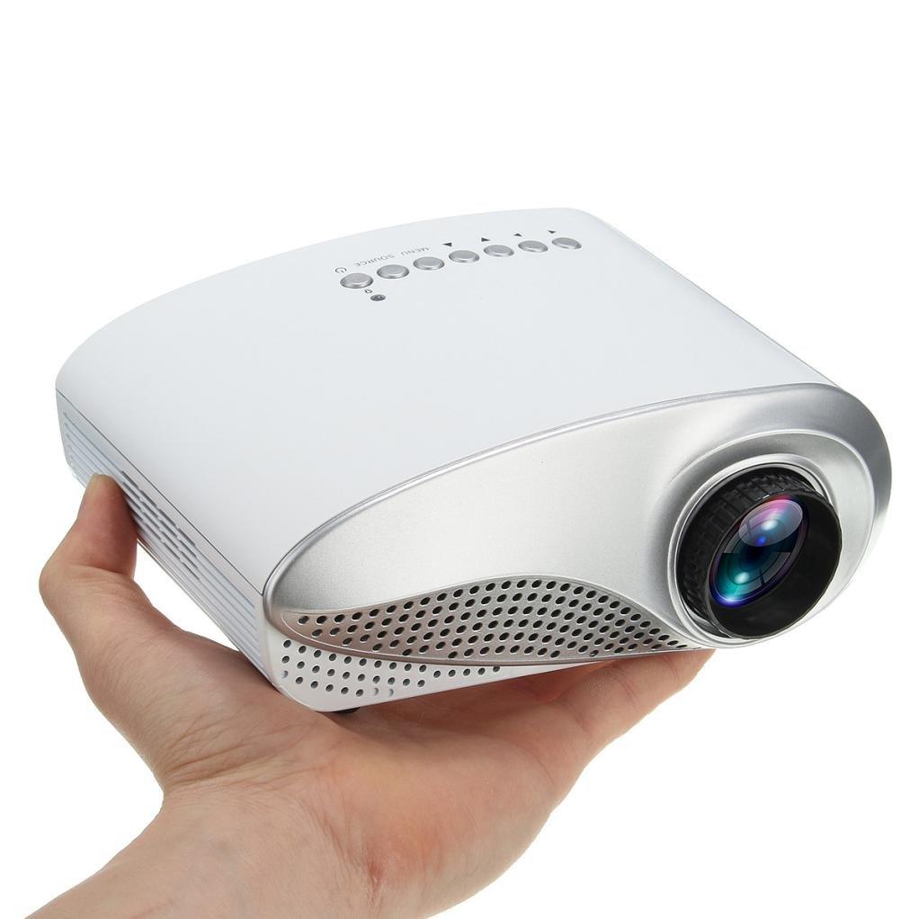 Besde Clearance 3D Full HD 1080P Mini Projector LED Multimedia Home Theater USB VGA HDMI TV AV (AS, A)