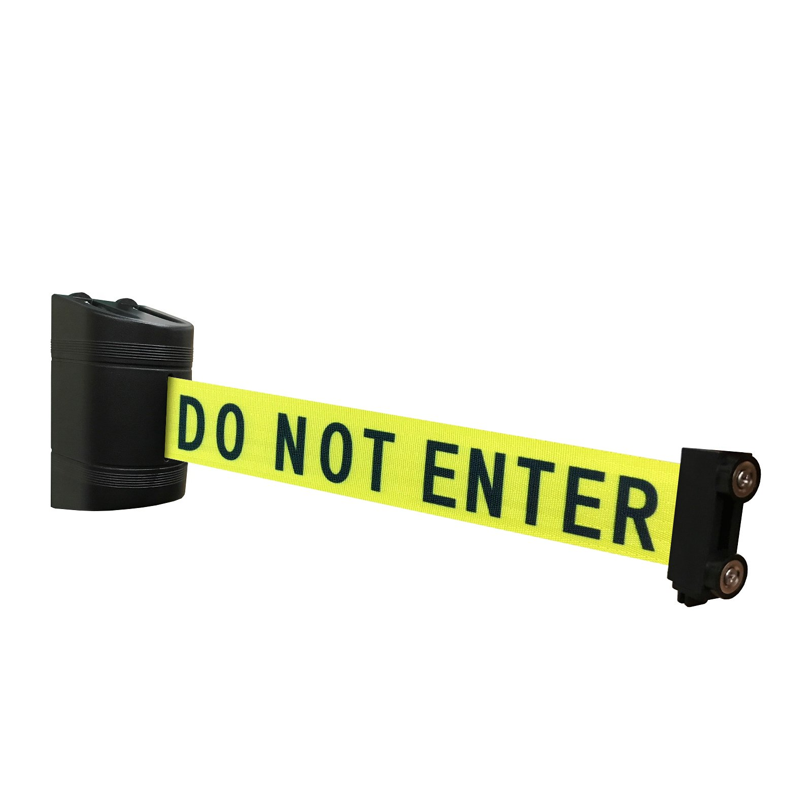 Magnetic Retractable Wall Barrier 120''L (Caution DO NOT Enter) by Crowd Control Center