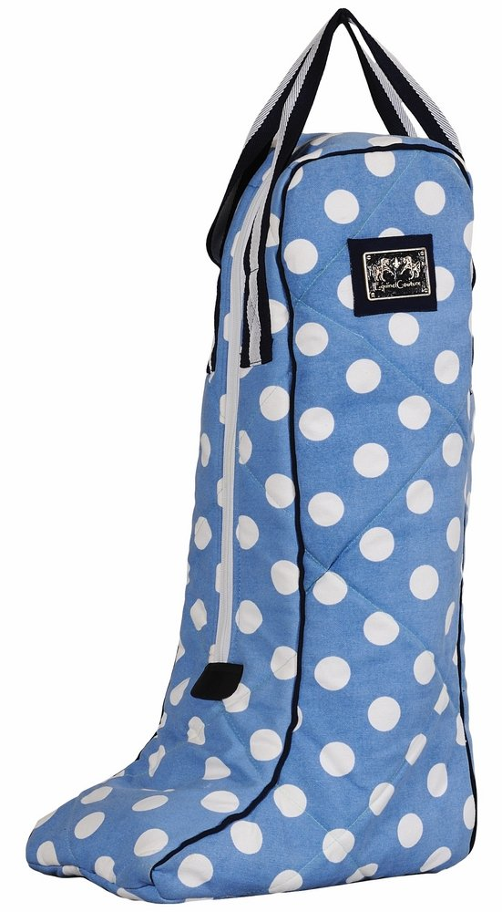Equine Couture Emma Boot Bag, Light Blue/Navy, Standard