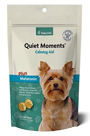 NaturVet QUIET MOMENTS CALMING AID Natural Stress Relief Dog Cat 65 Soft Chews: Amazon.es: Productos para mascotas