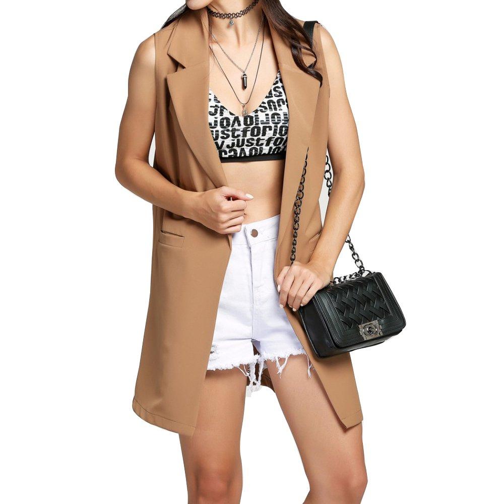 Highdas Long Suit Waistcoat Womens Mid Length Open Duster Blazer Cardigan